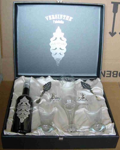VERSINTHE GIFT BOX CARDBOARD BLACK with FOUNTAINE